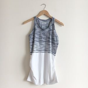 Athleta Striped Ruched Racerback Tank